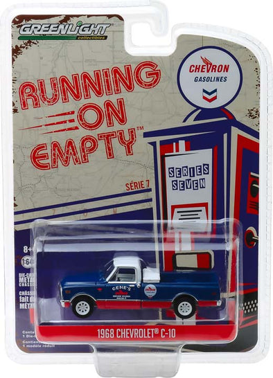 GreenLight 1/64 Running on Empty Series 7 - 1968 Chevrolet C-10 - Chevron Solid Pack  - #41070-C