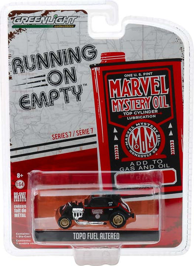 GreenLight 1/64 Running on Empty Series 7 - Topo Fuel Altered - Marvel Mystery Oil Solid Pack - #41070-F