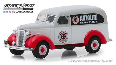 GreenLight 1/64 Running on Empty 8 - 1939 Chevy Panel Truck - Autolite Solid Pack - #41080-A