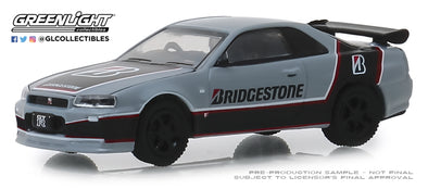 GreenLight 1/64 Running on Empty 8 - 2001 Nissan Skyline GT-R - Bridgestone Solid Pack - #41080-E