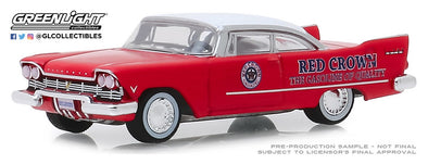 GreenLight 1/64 Running on Empty 9 - 1957 Plymouth Savoy Red Crown - #41090-A