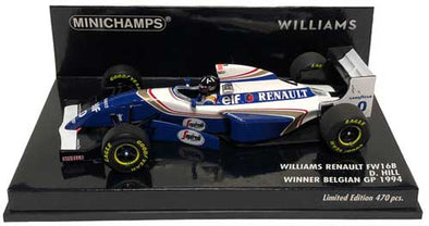 Minichamps 1/43 Williams FW16B Winner Belgian GP 1994 - Damon Hill - 417940400