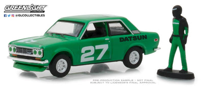 GreenLight 1/64 The Hobby Shop Series 5 - 1970 Datsun 510 with Race Car Driver Solid Pack - #97050-C
