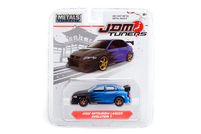 JADA 1/64 JDM Tuners - 2002  Lancer Evolution VII Candy Blue
