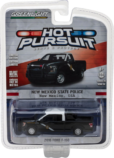 GreenLight 1/64 Hot Pursuit Series 24 - 2016 Ford F-150 - New Mexico State Police Solid Pack  #42810-F