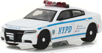 GreenLight 1/64 Hot Pursuit - 2017 Dodge Charger New York City Police Dept (NYPD) with NYPD Squad Number Decal Sheet (Hobby Exclusive)  #42821