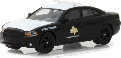 GreenLight 1/64 Hot Pursuit Series 27 - 2011 Dodge Charger Pursuit - Texas Highway Patrol Solid Pack #42840-E