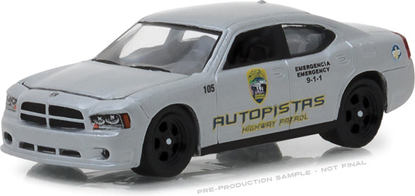 GreenLight 1/64 Hot Pursuit Series 28 - 2008 Dodge Charger Policia de Puerto Rico Autopistas Highway Patrol Solid Pack #42850-D