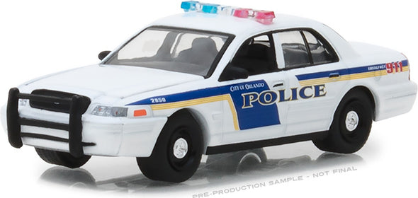 GreenLight 1/64 Hot Pursuit Series 28 - 2010 Ford Crown Victoria Police Interceptor - City of Orlando, Florida Police Solid Pack #42850-E