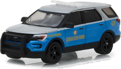 GreenLight 1/64 Hot Pursuit Series 28 - 2016 Ford Police Interceptor Utility Georgia State Patrol Solid Pack #42850-F