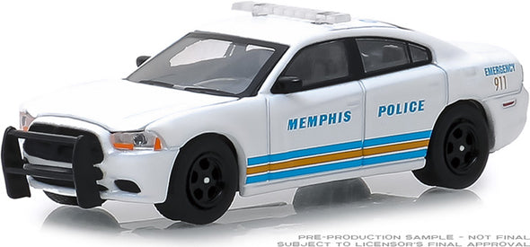 GreenLight 1/64 Hot Pursuit Series 31 - 2011 Dodge Charger - Memphis, Tennessee Police Solid Pack #42880-E