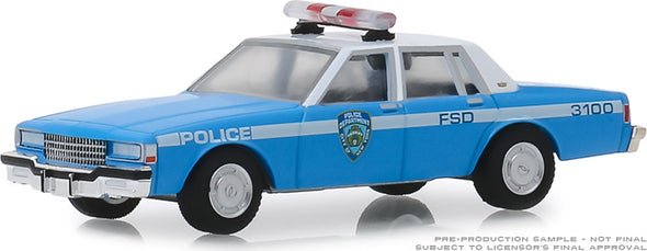 GreenLight 1/64 Hot Pursuit Series 32 - 1990 Chevrolet Caprice New York City Police Dept (NYPD) #42890-C