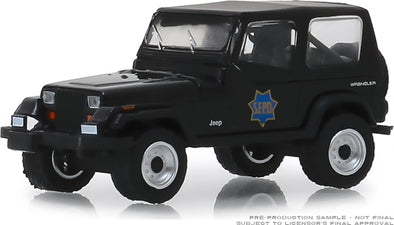 GreenLight 1/64 Hot Pursuit Series 32 - 1994 Jeep Wrangler (YJ) San Francisco Police Department #42890-D