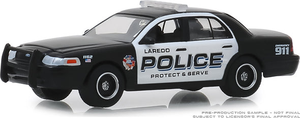 GreenLight 1/64 Hot Pursuit Series 32 - 2010 Ford Crown Victoria Police Interceptor Laredo, Texas Police #42890-E