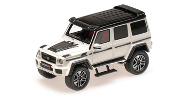Minichamps 1/43 BRABUS 4×4² AUF BASIS MERCEDES-BENZ G 500 4×4² 2016 – WHITE - 437032462