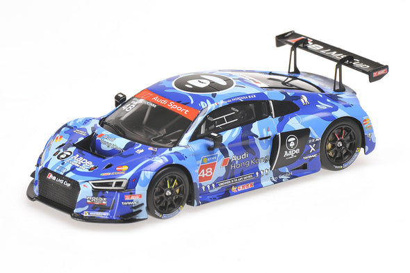 "Tarmac Works x Minichamps 1/43 AUDI R8 LMS - AAPE by A Bathing Ape - EDOARDO MORTARA - AUDI R8 LMS CUP 2016 SEPANG RACE 2 WINNER ""2ND EDITION"""