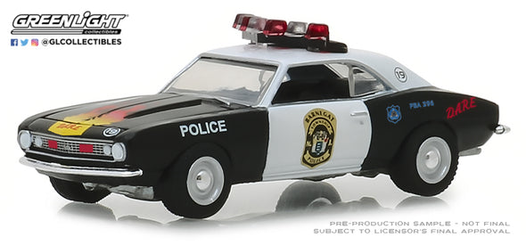 GreenLight 1/64 Hot Pursuit Series 30 - 1967 Chevrolet Camaro Custom - Barnegat Township Police Department, New Jersey Solid Pack #42870-A
