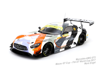 Tarmac Works x Minichamps Special Edition MERCEDES-AMG GT3 – GRUPPEM RACING – Maro Engel  – MACAU GT CUP – FIA GT WORLD CUP 2017 3rd