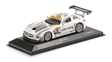 Tarmac Works x Minichamps 1/43 Mercedes Benz SLS AMG GT3 Maro Engel - 2014 Macau GT Cup Winner - With Driver Signature