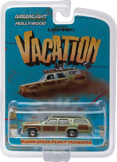 "GreenLight 1:64 Hollywood Series 12 - National Lampoon's Vacation (1983) - 1979 Family Truckster ""Wagon Queen"" Solid Pack - #44720-A"