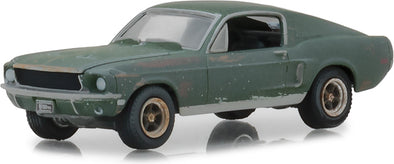 GreenLight 1/64 Unrestored 1968 Ford Mustang GT Fastback - 2018 Detroit Auto Show (Hobby Exclusive) #44722