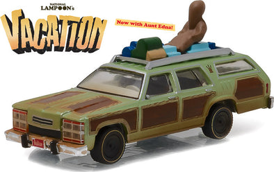 "GreenLight 1/64 Hollywood Series 15 - National Lampoon's Vacation (1983) - 1979 Family Truckster ""Wagon Queen"" with Aunt Edna Solid Pack - #44750-A"