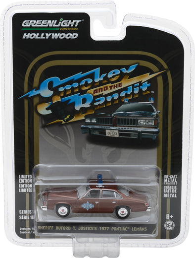 GreenLight 1/64 Hollywood Series 18 - Smokey and the Bandit (1977) - Sheriff Buford T. Justice's 1977 Pontiac LeMans Solid Pack - #44780-B