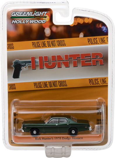 GreenLight 1/64 Hollywood Series 18 - Hunter (1984-91 TV Series) - 1978 Dodge Monaco Solid Pack - #44780-C