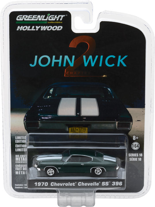 GreenLight 1/64 Hollywood Series 18 - John Wick: Chapter 2 (2017) - 1970 Chevrolet Chevelle SS 396 Solid Pack - #44780-F