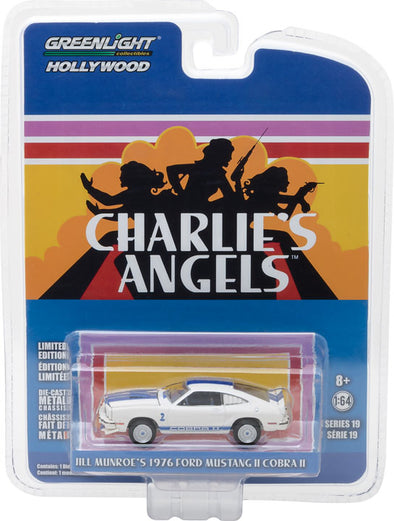 GreenLight 1/64 Hollywood Series 19 - Charlie's Angels (1976–81 TV Series) - 1976 Ford Mustang II Cobra II Solid Pack - #44790-A
