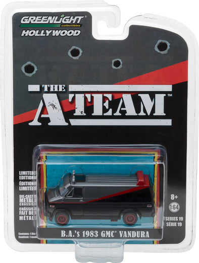 GreenLight 1/64 Hollywood Series 19 - The A-Team (1983-87 TV Series) - 1983 GMC Vandura Solid Pack - #44790-B