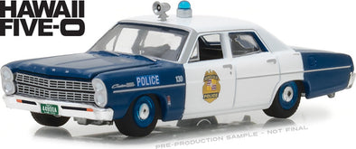 GreenLight 1/64 Hollywood Series 20 - Hawaii Five-0 (1968-1980 TV Series) - 1967 Ford Custom Honolulu Hawaii Police Solid Pack  - #44800-A