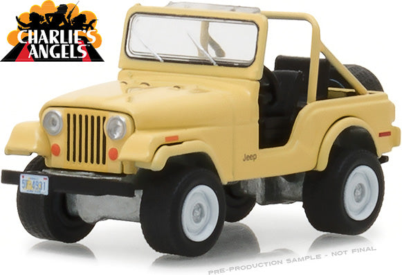 GreenLight 1/64 Hollywood Series 20 - Charlie's Angels (1976–81 TV Series) - Jeep CJ-5 Solid Pack - #44800-C