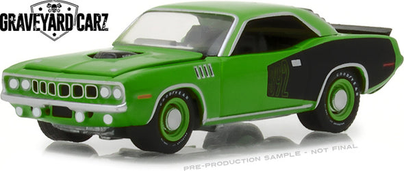 GreenLight 1/64 Hollywood Series 20 - Graveyard Carz (2012-Current TV Series) - 1971 Plymouth 'Cuda (Season 7 - Firepower Operation) Solid Pack - #44800-E