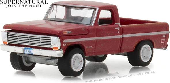 GreenLight 1/64 Hollywood Series 20 - Supernatural (2012-Current TV Series) - 1969 Ford F-100 Solid Pack - #44800-F