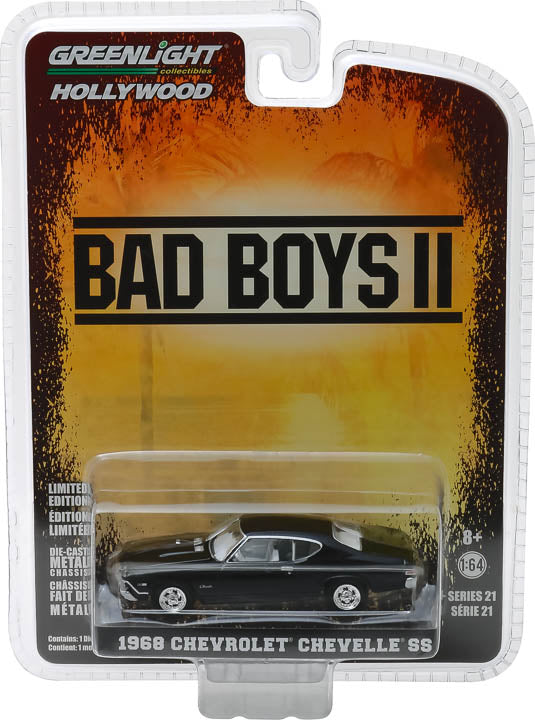 GreenLight 1/64 Hollywood Series 21 - Bad Boys II (2003) - 1968 Chevrolet Chevelle SS Solid Pack - #44810-E