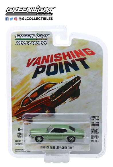 GreenLight 1/64 Hollywood Series 25 - Vanishing Point (1971) 1970 Chevrolet Chevelle Solid Pack - #44850-B