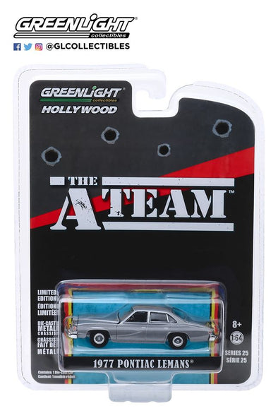 GreenLight 1/64 Hollywood Series 25 - The A-Team (1983-87 TV Series) 1977 Pontiac LeMans Solid Pack - #44850-C