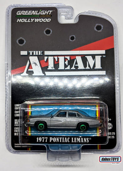 """GREEN MACHINE"" - GreenLight 1/64 Hollywood Series 25 - The A-Team (1983-87 TV Series) 1977 Pontiac LeMans Solid Pack - #44850-C"