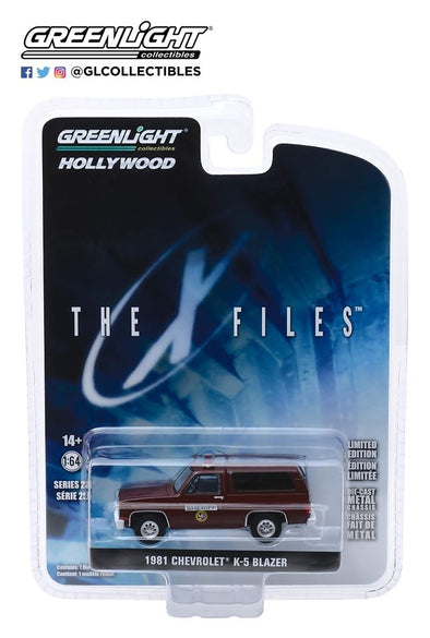 GreenLight 1/64 Hollywood Series 25 - The X-Files (1993-2002 TV Series) 1981 Chevrolet K-5 Blazer Sheriff  Solid Pack - #44850-D