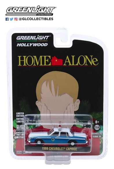 GreenLight 1/64 Hollywood Series 25 - Home Alone (1990) 1986 Chevrolet Caprice Wilmette, Illinois Police  Solid Pack - #44850-E