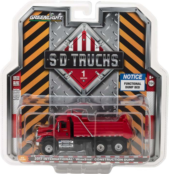 GreenLight 1/64 S.D. Trucks Series 1 - 2017 International WorkStar Construction Dump Truck Solid Pack - #45010-A
