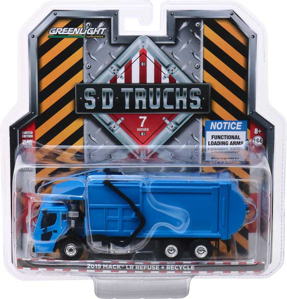 GreenLight 1/64 S.D. Trucks Series 7 - 2019 Mack LR Refuse Truck Solid Pack - #45070-C