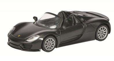 Schuco 1/64 Porsche 918 Spyder, Matt Blackr #452011400