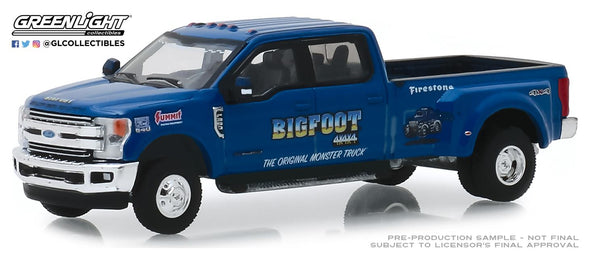 GreenLight 1/64 Dually Drivers Series 2 - 2019 Ford F-350 Dually - Bigfoot #1 Solid Pack #46020-E