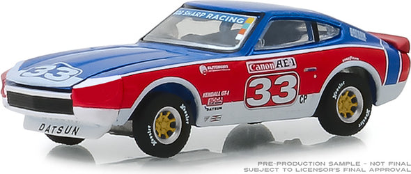 GreenLight 1/64 Tokyo Torque Series 5 - 1973 Datsun 240Z - #33 Bob Sharp Racing Solid Pack #47030-D