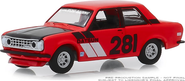 GreenLight 1/64 Tokyo Torque Series 6 - 1970 Datsun 510 #281 Turn Right Racing Solid Pack #47040-A