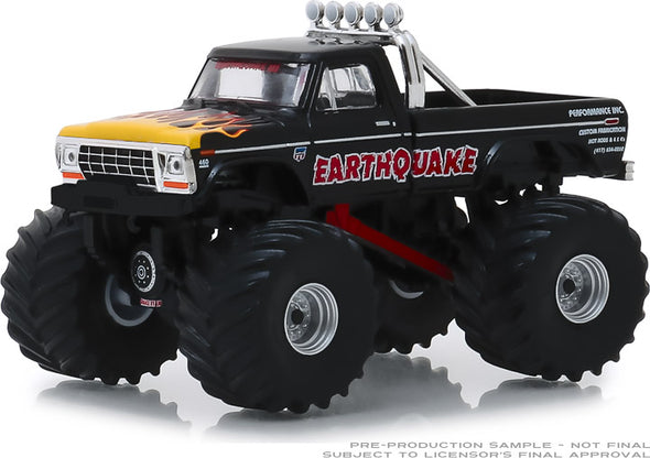 GreenLight 1/64 Kings of Crunch Series 4 - Earthquake - 1975 Ford F-250 Monster Truck Solid Pack #49040-B
