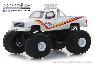 GreenLight 1/64 Kings of Crunch Series 5 - 1981 Chevrolet K20 Silverado Monster Truck Southern Sunshine #49050-D