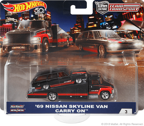 Hot Wheels Car Culture Team Transport '69 Nissan Skyline Van / Carry On ADVAN Yokohama